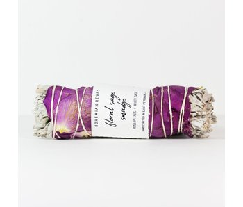 Floral Sage Smudge with Palo Santo