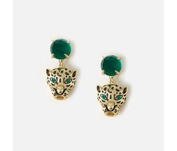 Panther Head Drop Earrings