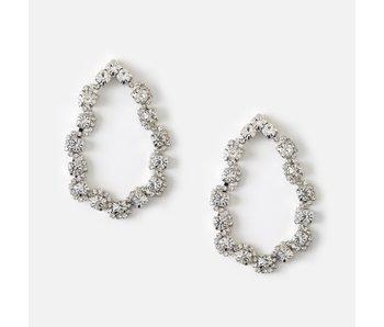 Statement Crystal Open Teardrop Earrings