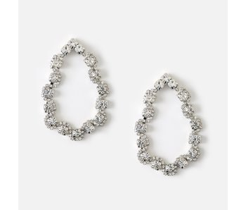 Statement Crystal Open Teardrop Earrings