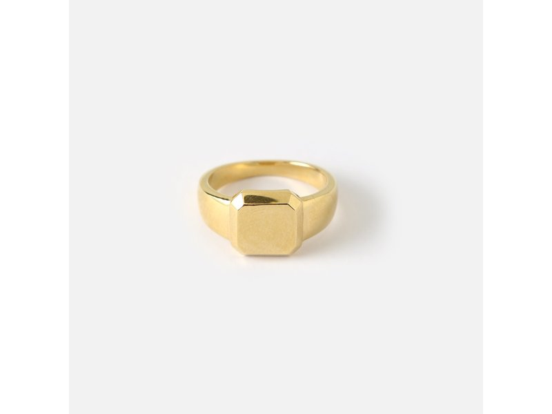 Bevelled Square Signet Ring