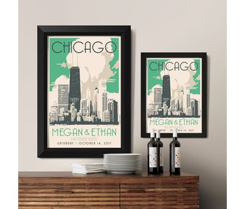 Chicago Gold Coast Custom Poster