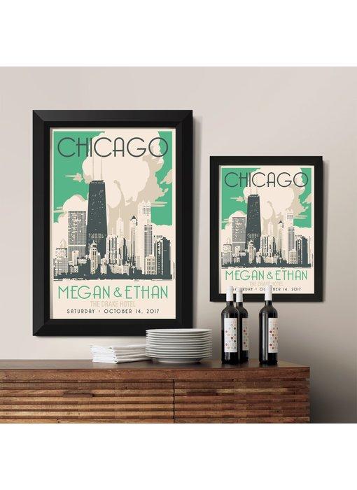 Chicago Gold Coast Custom Poster