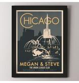 Alexander & Co. Chicago Buckingham Fountain Custom Poster