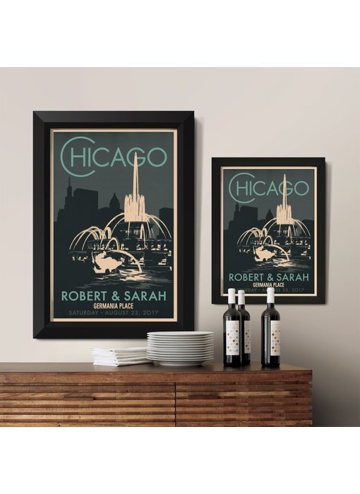 Chicago Buckingham Fountain Custom Poster