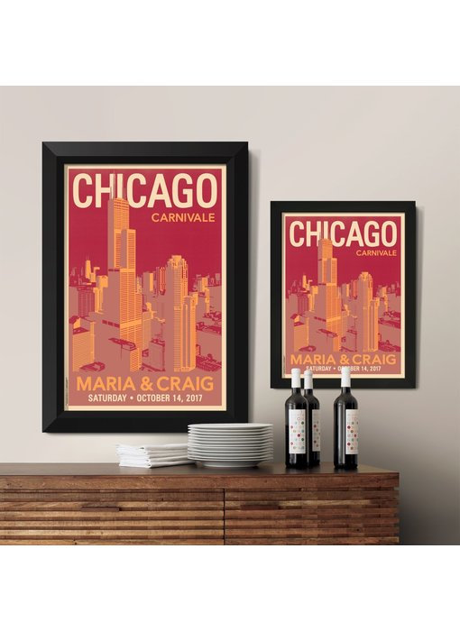 Downtown Chicago Custom Poster