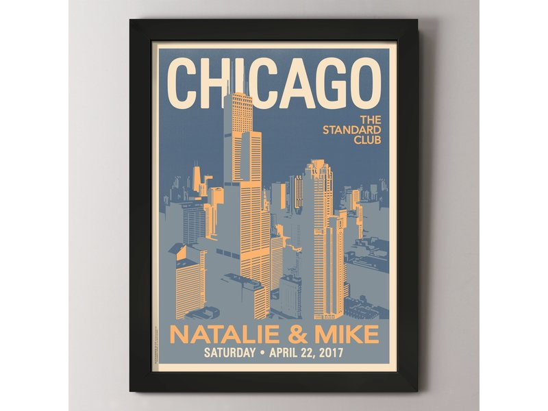 Alexander & Co. Downtown Chicago Custom Poster