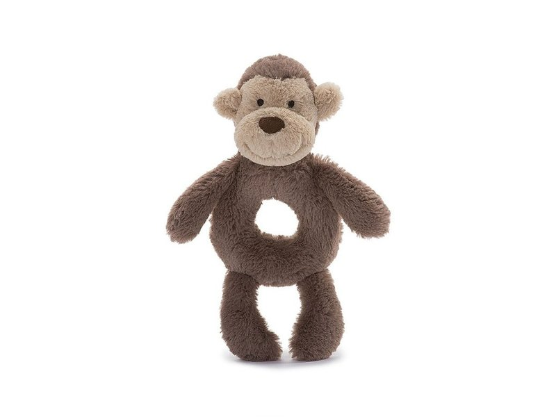 JellyCat Inc Bashful Monkey Ring Rattle