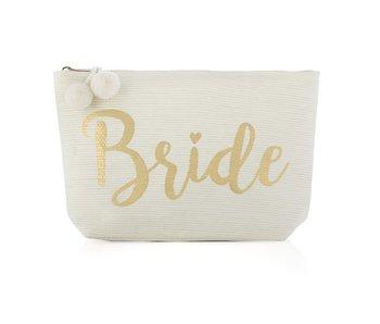 Mia Bride Ivory Zip Pouch