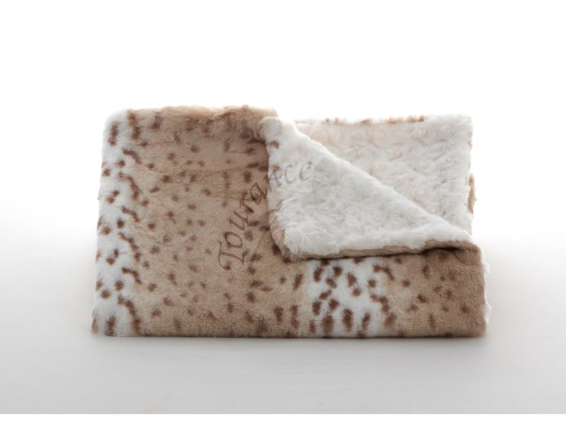 Tourance Linens Snow leopard Ivory Baby Blanket