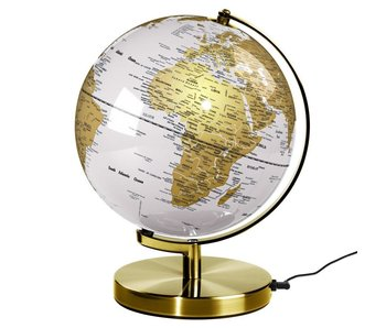 Globe Light Metallic Brass Arctic White