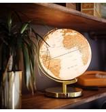 Wild & Wolf Globe Light Metallic Brass Arctic White