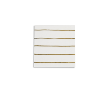 Frenchie Striped Petite Napkins Gold Foil