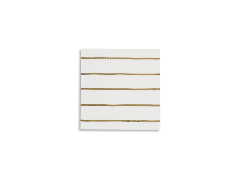 Daydream Frenchie Striped Petite Napkins Gold Foil