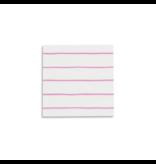 Frenchie Striped Petite Napkins Cerise