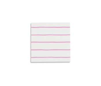 Frenchie Striped Petite Napkins Cerise