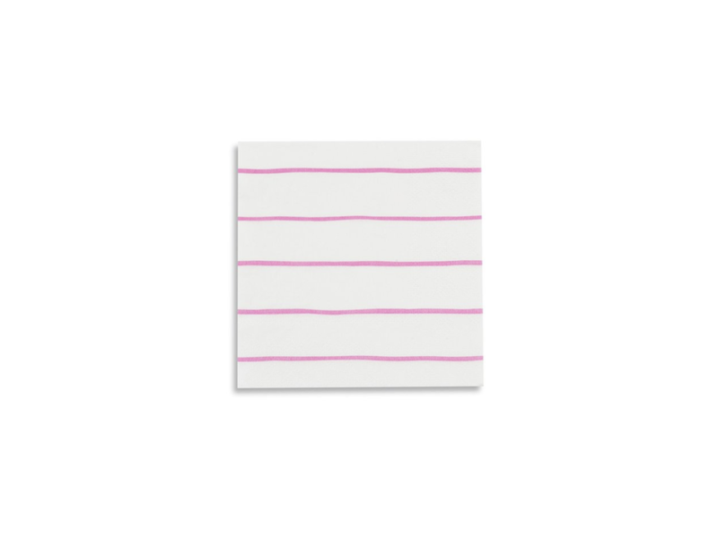 Daydream Frenchie Striped Petite Napkins Cerise