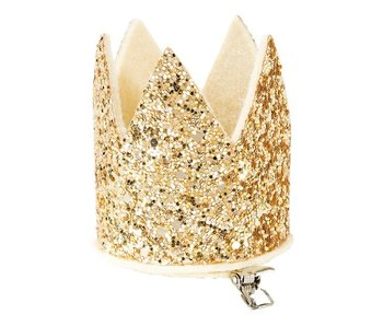 Gold Glitter Mini Party Crown