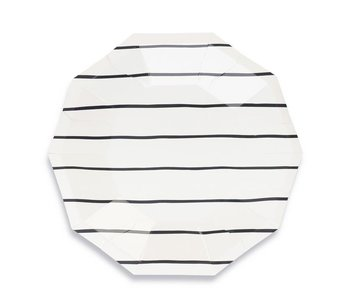 Frenchie Striped Small Plate Ink