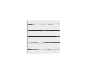 Frenchie Striped Petite Napkins Ink