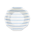 Daydream Frenchie Striped Small Plate Cobalt