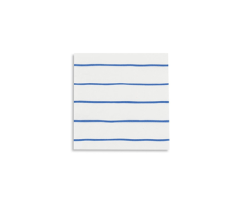 Frenchie Striped Petite Napkins Cobalt
