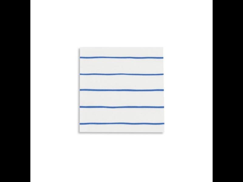 Daydream Frenchie Striped Petite Napkins Cobalt