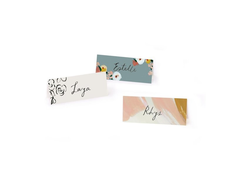 Our Heiday Peach Skies Place Cards