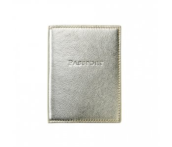 White Gold Metallic Passport Cover