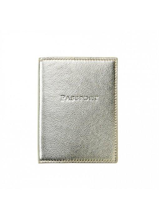 White Gold Metallic Passport Cover