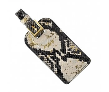 Python & Gold Leather Luggage Tag