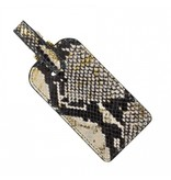 Graphic Image Inc. Python/Gold Leather Luggage Tag