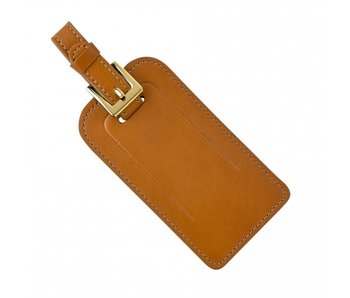 Tan Leather Luggage Tag