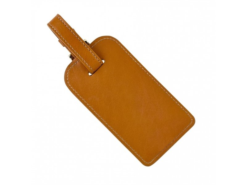 Graphic Image Inc. Tan Leather Luggage Tag