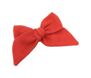 Baby Tied Bow - Red Maple Gauze