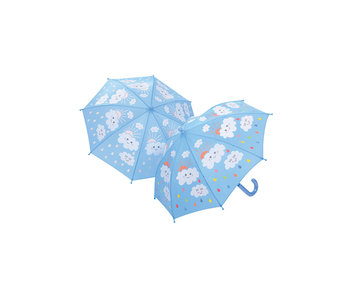Raindrops and Clouds Umbrella