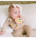 Loulou Lollipop Pastel Rainbow Silicone Teether Set