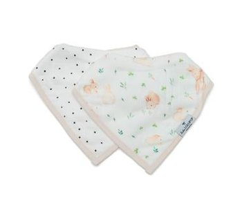 Bunny Meadow Bandana Bib Set