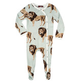Milk Barn Lion Bamboo Footed Romper