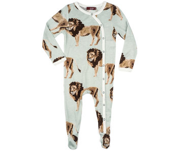 Lion Bamboo Footed Romper
