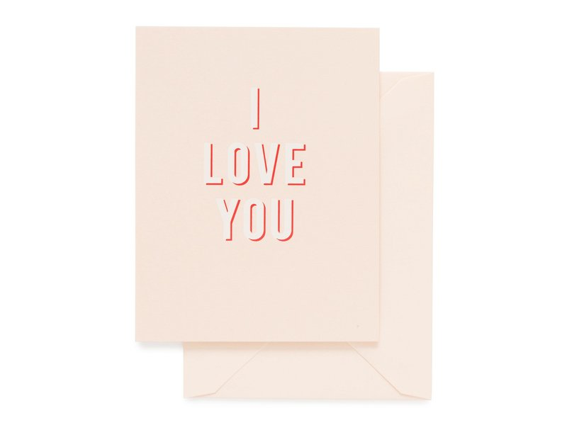 Sugar Paper Bold I Love You Greeting Card