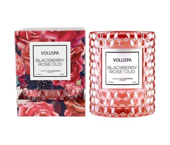 Blackberry Rose & Oud Icon Candle with Cloche Cover