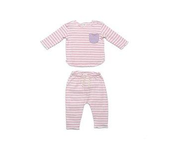 Pink Stripe Bobbi Set