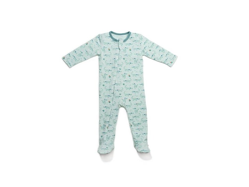EGG by Susan Lazar Cool Gator Sage Classic Zipper Footie