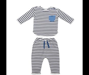 Blue Stripe Bobbi Set