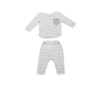 Grey Stripe Bobbi Set