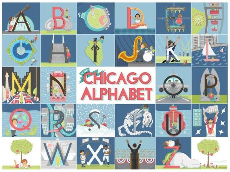 cape horn Illustrations Chicago Alphabet Print