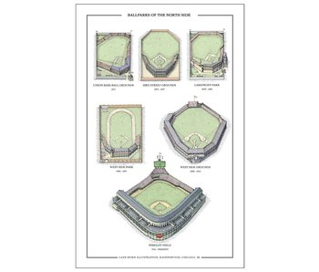 Ballparks of the North Side Print