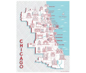 Chicago Map of Landmarks Print