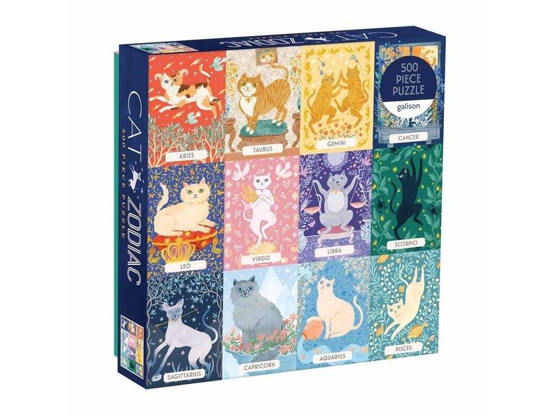 Chronicle Books Cat Zodiac 500 Piece Puzzle